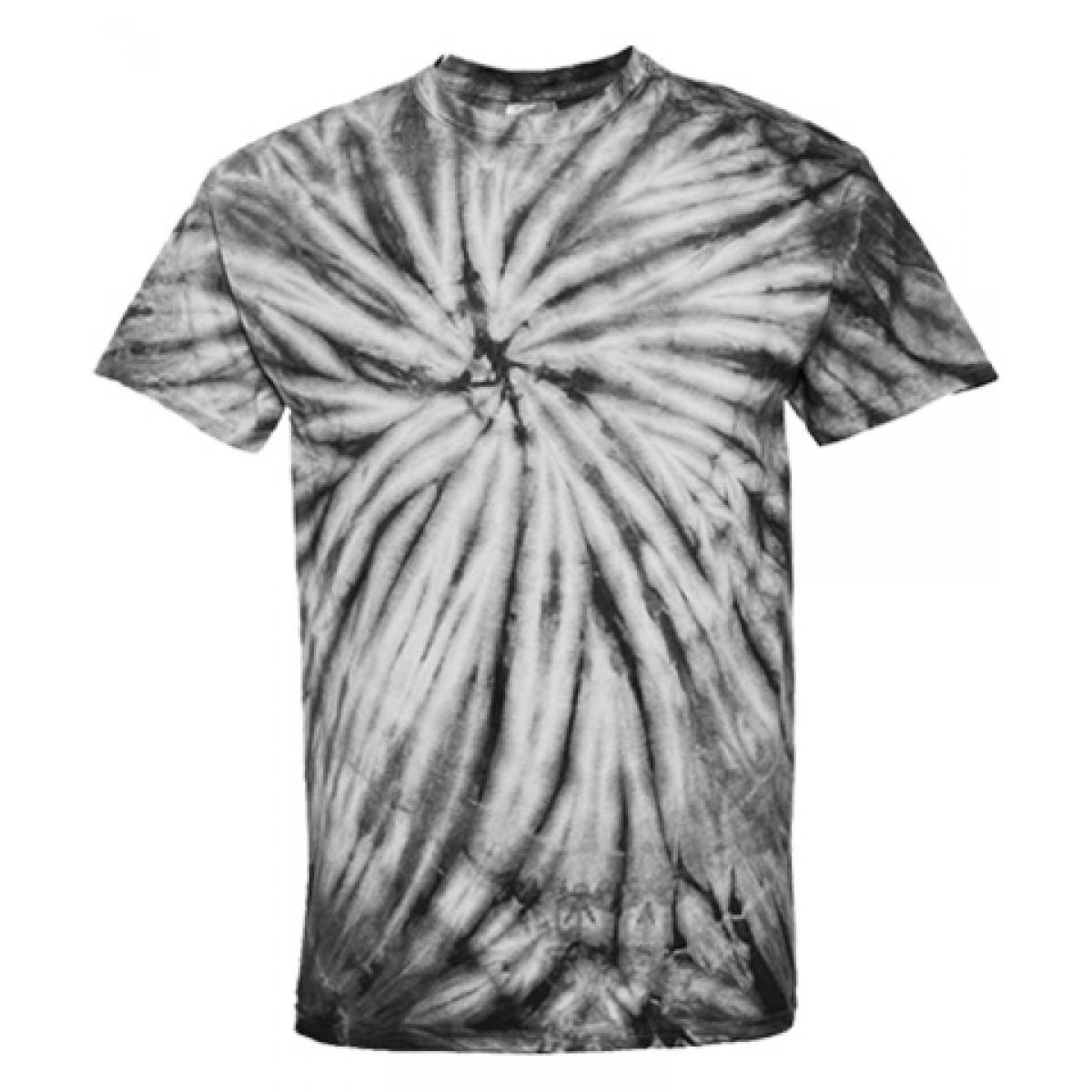 Tie-Dye Short Sleeve Black