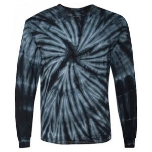 Tie-Dye Long Sleeve Black